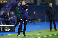 18th March 2021; Zagreb, Croatia;  Damir Krznar, head coach of Dinamo Zagreb, reacts during the UEFA Europa League Round of 16 Second Leg match between Dinamo Zagreb and Tottenham Hotspur at Maksimir stadium watched by Jose Mourinho of Spurs