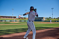 Salt River Rafters Geraldo Perdomo (7), of the Arizona Diamondbacks organization, on deck during the Arizona Fall League Championship Game against the Surprise Saguaros on October 26, 2019 at Salt River Fields at Talking Stick in Scottsdale, Arizona. The Rafters defeated the Saguaros 5-1. (Zachary Lucy/Four Seam Images)