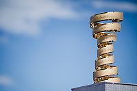 The 'never ending trophy' > better known as the Trofeo Senza Fine at the race start in Orbetello<br /> <br /> Stage 4: Orbetello to Frascati (228km)<br /> 102nd Giro d'Italia 2019<br /> <br /> ©kramon