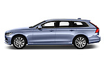 Car driver side profile view of a 2019 Volvo V90 Momentum 5 Door Wagon