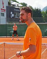 Austria, Kitzbuhel, Juli 15, 2015, Tennis, Davis Cup, Training Dutch team, Fysio Edwin Visser<br /> Photo: Tennisimages/Henk Koster