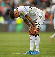 11th September 2021; Swansea.com Stadium, Swansea, Wales; EFL Championship football, Swansea versus Hull City; Rhys Williams of Swansea City looks dejected after the game