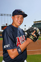 August 9 2008: Beau Wright participates in the Aflac All American baseball game for incoming high school seniors at Dodger Stadium in Los Angeles,CA.  Photo by Larry Goren/Four Seam Images
