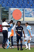 Football, Serie A: S.S. Lazio - Juventus Olympic stadium, Rome, November 8, 2020. <br /> Lazio's Felipe Caicedo (second left) celebrates after scoring with his coach Simone Inzaghi (l) during the Italian Serie A football match between Lazio and Juventus at Olympic stadium in Rome, on November 8, 2020.<br /> UPDATE IMAGES PRESS/Isabella Bonotto