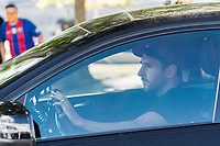 8th September 2020, Barcelona, Spain;  Lionel Messi drives to leaves a training session with Barcelona in Barcelona, Spain. Barcelonas Argentinian forward Lionel Messi returned to training with team on Monday, about two weeks after he told the club he intends to leave this summer.