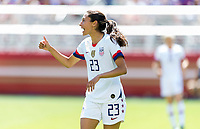 Santa Clara, CA - May 12, 2019: The women's national teams of the United States (USA) defeated South Africa (RSA) 3-0 in an international friendly match at Levi's Stadium.
