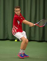 March 8, 2015, Netherlands, Rotterdam, TC Victoria, NOJK, Kaj van den Heuvel (NED)<br /> Photo: Tennisimages/Henk Koster