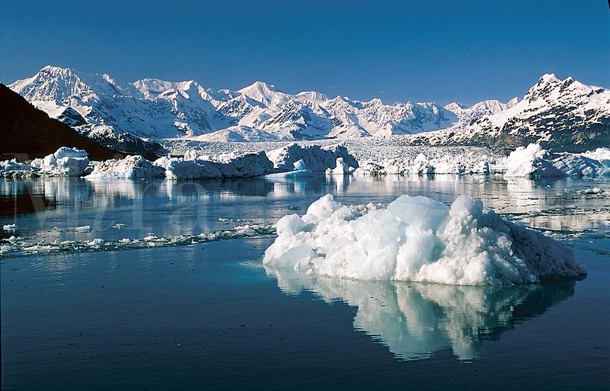 An iceberg landscape from the Columbia Glacier in Prince William Sound. Alaska.