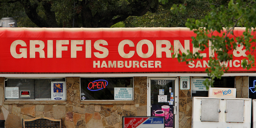 Little out of the way convenience store near Grapevine Lake, Texas.
