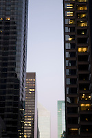 Soft Focus/Defocused View of Office Buildings on 53rd Street at Dusk, Midtown Manhattan, New York City, New York State, USA