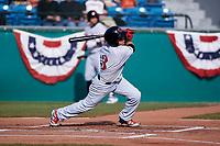 Visalia Rawhide shortstop Jancarlos Cintron (3) during a California League game against the San Jose Giants on April 13, 2019 at San Jose Municipal Stadium in San Jose, California. Visalia defeated San Jose 4-2. (Zachary Lucy/Four Seam Images)