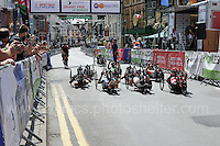 "The competitors prepare for the start during the Abergavenny Festival of Cycling ""Para Grand Prix of Wales"" race on Sunday 17th 2016<br /> <br /> <br /> Jeff Thomas Photography -  www.jaypics.photoshelter.com - <br /> e-mail swansea1001@hotmail.co.uk -<br /> Mob: 07837 386244 -"