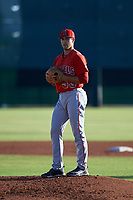 AZL Angels starting pitcher Chase Chaney (53) during an Arizona League game against the AZL Giants Black at the Giants Baseball Complex on June 21, 2019 in Scottsdale, Arizona. AZL Angels defeated AZL Giants Black 6-3. (Zachary Lucy/Four Seam Images)