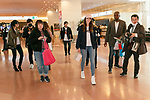 American model and singer Celine Farach arrives at Tokyo International Airport on February 9, 2018, Tokyo, Japan. The American model greeted fans and posed for selfies upon her arrival. Farach will attend a promotional event on Saturday in a fashionable Shibuya district. (Photo by Rodrigo Reyes Marin/AFLO)