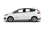 Car Driver side profile view of a 2017 Ford C-Max Energi-Titanium 5 Door Mini MPV Side View