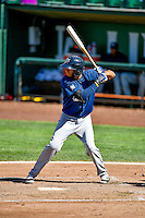 Jonathan Oquendo (3) of the Helena Brewers at bat against the Ogden Raptors in Pioneer League action at Lindquist Field on July 16, 2016 in Ogden, Utah. Ogden defeated Helena 5-4. (Stephen Smith/Four Seam Images)