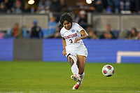 SAN JOSE, CA - DECEMBER 6: Madison Haley #3 of the Stanford Cardinal during a game between UCLA and Stanford Soccer W at Avaya Stadium on December 6, 2019 in San Jose, California.