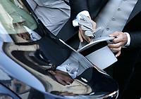 Roma, 19 giugno 2005: Matrimonio di Francesco Totti ed Ilary Blasi celebrato nella Basilica dell'Ara Coeli a Roma.<br /> Nella foto: Francesco Totti<br /> <br /> Photo: Antonietta Baldassarre Insidefoto