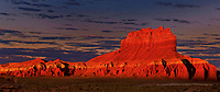 920950028 panoramic view -  wild horse butte at sunrise near the entrance to goblin valley state park in north central utah