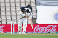 Virat Kohli, India pushes the ball into the on side for runs during India vs New Zealand, ICC World Test Championship Final Cricket at The Hampshire Bowl on 19th June 2021