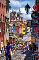 Pelourinho in Salvador, State of Bahia, Brazil