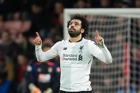 Mohamed Salah of Liverpool celebrates his goal during the Premier League match between Bournemouth and Liverpool at the Goldsands Stadium, Bournemouth, England on 17 December 2017. Photo by Andy Rowland / PRiME Media Images.