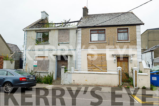 The two derelict houses on James Street, Tralee