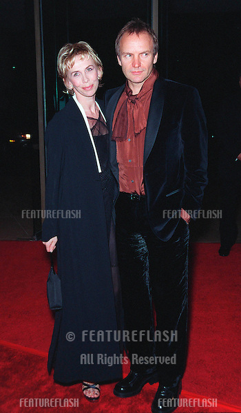 18FEB99:  Pop star/actor STING & wife TRUDIE STYLER at the American Film Institute Life Achievement Award tribute to Dustin Hoffman..© Paul Smith / Featureflash