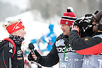 MARTELL-VAL MARTELLO, ITALY - FEBRUARY 02: HORCHLER Karolin (GER) giving an interview after the Women 7.5 km Sprint at the IBU Cup Biathlon 6 on February 02, 2013 in Martell-Val Martello, Italy. (Photo by Dirk Markgraf)