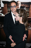 BEVERLY HILLS, CA, USA - OCTOBER 01: Robert Downey Jr., Susan Downey arrive at the Los Angeles Premiere Of Warner Bros. Pictures And Village Roadshow Pictures' 'The Judge' held at the Samuel Goldwyn Theatre at The Academy of Motion Picture Arts and Sciences on October 1, 2014 in Beverly Hills, California, United States. (Photo by Xavier Collin/Celebrity Monitor)