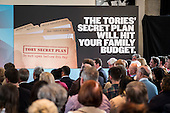 Tory Secret Plan poster.  Labour Party election press conference, RIBA, London.