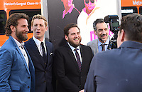 Bradley Cooper + Miles Teller + Jonah Hill + Todd Phillips @ the premiere of 'War Dogs' held @ the Chinese theatre.<br /> August 15, 2016