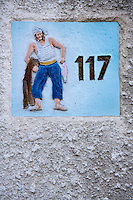 Europe/France/Provence-Alpes-Côte d'Azur/13/Bouches-du-Rhône/Marseille:Plaque d'une maison   du vallon des Auffes