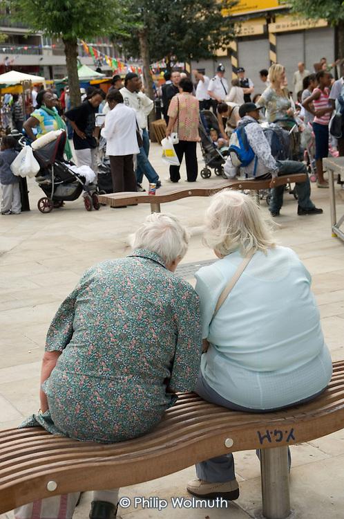 Two elderly women take a rest at Church Street Summer Festival 2007