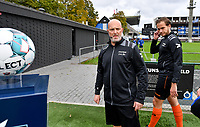referees Thomas Sanders and Any Vermeulen pictured during a female soccer game between Club Brugge Dames YLA and Zulte Waregem Ladies on the third matchday of the 2020 - 2021 season of Belgian Scooore Womens Super League , saturday 3 October 2020  in Brugge , Belgium . PHOTO SPORTPIX.BE | SPP | DAVID CATRY