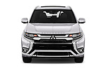 Car photography straight front view of a 2018 Mitsubishi Outlander PHEV Instyle 5 Door SUV