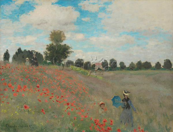 Claude Monet - Poppies at Argenteuil (1873). Paris, musée d'Orsay.