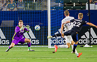 CARSON, CA - OCTOBER 14: Jonathan Klinsmann #33 GK of Los Angeles Galaxy prepares to make a save during a game between San Jose Earthquakes and Los Angeles Galaxy at Dignity Heath Sports Park on October 14, 2020 in Carson, California.