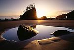 Sunset on Second Beach, Olympic National Park, Washington, USA