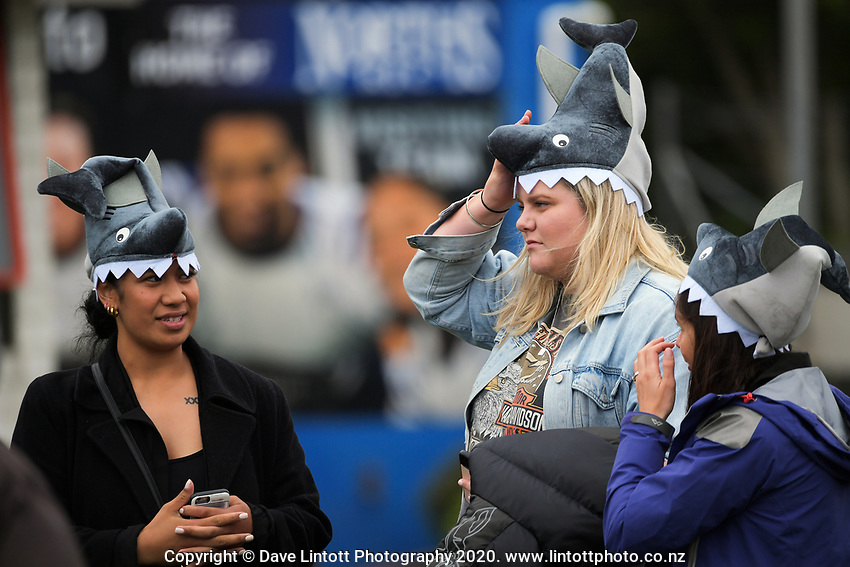 Makos fans during the Mitre 10 Cup rugby match between Wellington Lions and Tasman Makos at Jerry Collins Stadium in Wellington, New Zealand on Saturday, 31 October 2020. Photo: Dave Lintott / lintottphoto.co.nz