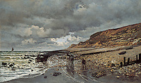 Claude Monet - The Pointe de La Heve at Low Tide (1865). Fort Worth, Kimbell Art Museum.