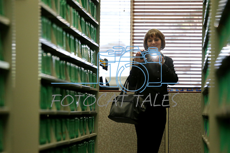 Marina Pshybytka and other library representatives from Belarus tour the Nevada State Library, Archives and Public Records in Carson City, Nev. on Friday, Jan. 27, 2017.<br /> Photo by Cathleen Allison/Nevada Photo Source