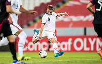 GUADALAJARA, MEXICO - MARCH 24: Djordje Mihailovic #8 of the United States takes a shot on goal during a game between Mexico and USMNT U-23 at Estadio Jalisco on March 24, 2021 in Guadalajara, Mexico.