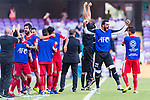The Jordan team celebrates Anas Bani-Yaseen's scoring the goal during the AFC Asian Cup UAE 2019 Group B match between Australia (AUS) and Jordan (JOR) at Hazza Bin Zayed Stadium on 06 January 2019 in Al Ain, United Arab Emirates. Photo by Marcio Rodrigo Machado / Power Sport Images