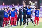 The Jordan team celebrates Anas Bani-Yaseen's scoring the goal during the AFC Asian Cup UAE 2019 Group B match between Australia (AUS) and Jordan (JOR) at Hazza Bin Zayed Stadium on 06 January 2019 in Al Ain, United Arab Emirates. Photo by Marcio Rodrigo Machado / Power Sport Images