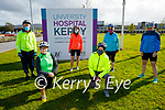 After crossing the finish line after completing the Comfort for Chemo cycling fundraiser at the UHK on Saturday. Kneeling l to r: Jane Boyle and Bronagh Ringland. Back l to r: Tony O'Callaghan, Catherine O'Keeffe, Colette O'Dowd and Angela O'Mahoney.