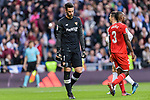 Goalkeeper Sergio Rico of Sevilla FC reacts during La Liga 2017-18 match between Real Madrid and Sevilla FC at Santiago Bernabeu Stadium on 09 December 2017 in Madrid, Spain. Photo by Diego Souto / Power Sport Images