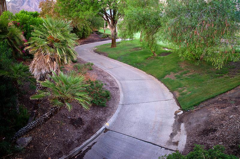 Pathway in garden. Palm desert, California