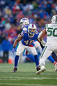 Buffalo Bills Marcus Murphy (45) blocks during an NFL football game against the New York Jets, Sunday, December 9, 2018, in Orchard Park, N.Y.  (Mike Janes Photography)