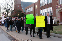 March from Myrtle Baptist Church to First Unitarian Society Newton to protest police brutality, injustice and the killings of Blacks after grand juries in Ferguson MO and Staten Island NY refuse to indict police officers in the murders of Mike Brown and Eric Garner 12.7.14